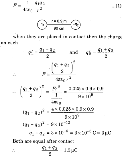 RBSE Class 12 Physics Chapter 1 Electric Field