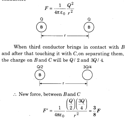 RBSE Solution Of Class 12th Physics Electric Field