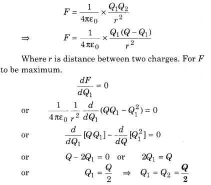 12th Physics Solution RBSE Electric Field
