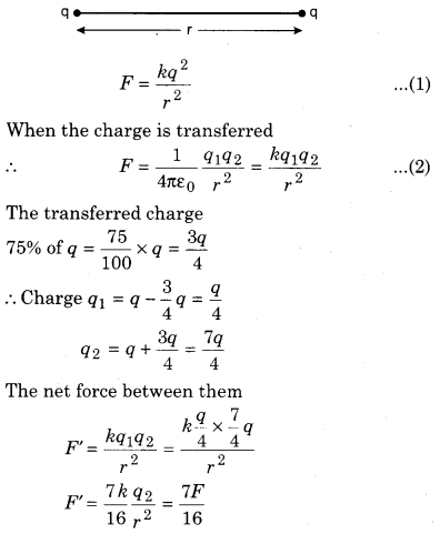 Class 12 Physics RBSE Chapter 1 Electric Field