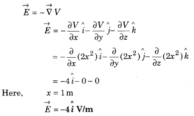 Solution Of Physics Class 12 RBSE 3 Electric Potential