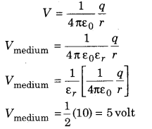 Physics Chapter 3 Class 12 RBSE 3 Electric Potential