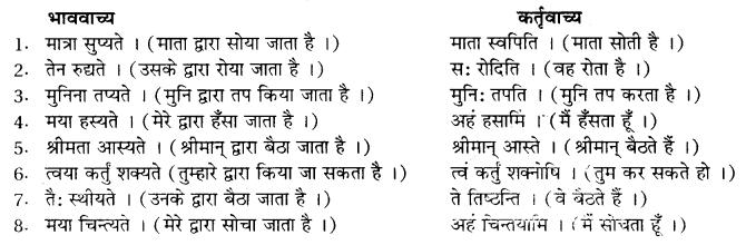 संस्कृत में वाच्य परिवर्तन RBSE Class 10