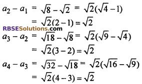 Arithmetic Progression Class 10 RBSE Ex 5.1