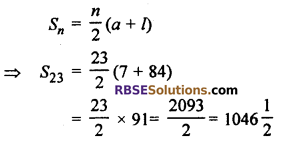 RBSE Solutions For Class 10 Maths Chapter 5 Arithmetic Progression