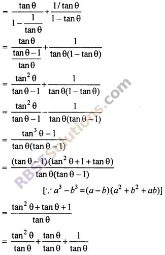 RBSE 10th Math Ex 7.1 Trigonometric Identities