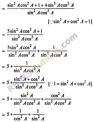 Trigonometry Questions For Class 10 RBSE Exercise 7.1 Math