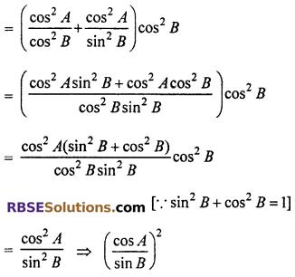 Class 10 Maths 7.1 RBSE Solutions Trigonometric Identities