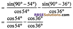 Ex 7.2 Class 10 RBSE Trigonometric Identities