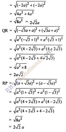 ex 9.1 Class 10 Maths RBSE Chapter 9 Co-ordinate Geometry
