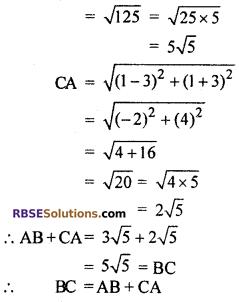 Chapter 9 Class 10 Maths RBSE Co-ordinate Geometry Ex 9.1