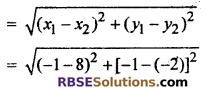 Ex 9.1 Maths Class 10 RBSE Chapter 9 Co-ordinate Geometry
