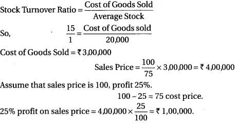 RBSE Solutions For Class 12 Accountancy Chapter 11 Ratio Analysis